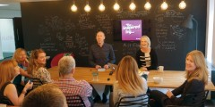 Synergy Creative's Gemma McGrattan and Giles Hicks inspire agency colleagues during an internal creative meeting